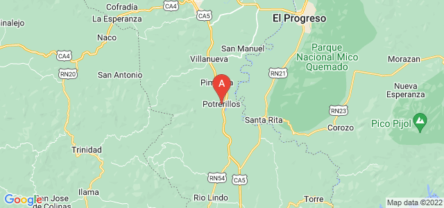 map of Potrerillos, Honduras