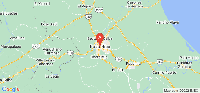 map of Poza Rica, Mexico