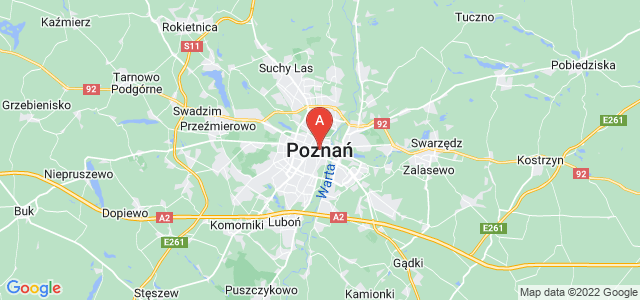 map of Poznań, Poland