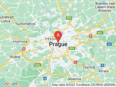 map of Prague, Czech Republic