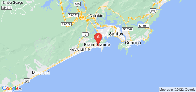 map of Praia Grande, Brazil