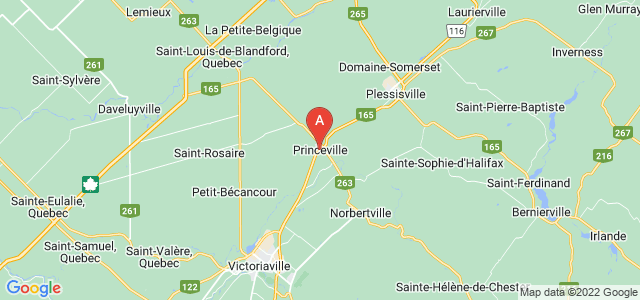 map of Princeville, Canada