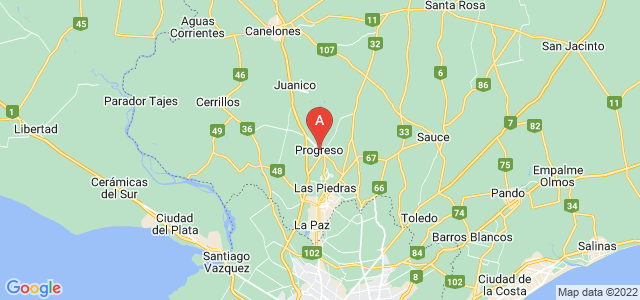 map of Progreso, Uruguay
