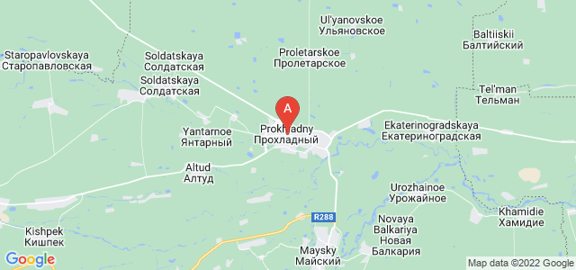map of Prokhladny, Russia