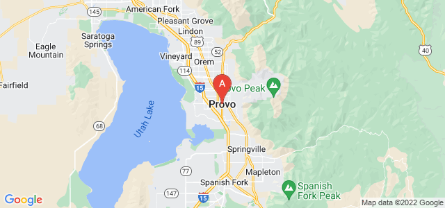 map of Provo, United States of America