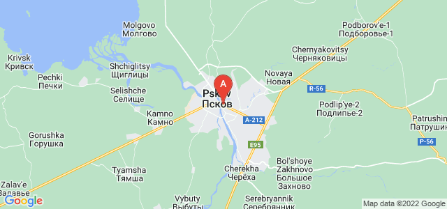 map of Pskov, Russia