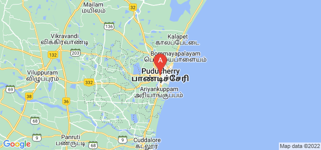 map of Puducherry, India
