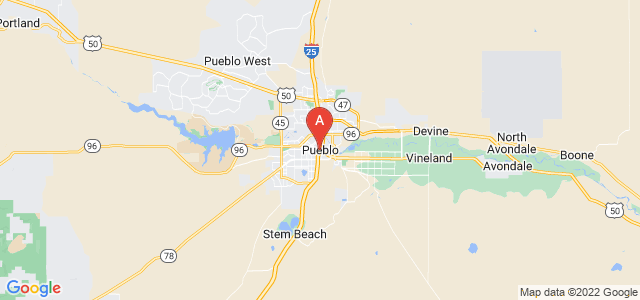 map of Pueblo, United States of America