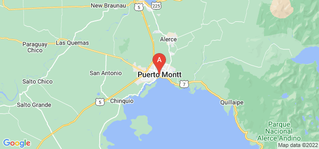 map of Puerto Montt, Chile