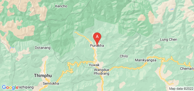 map of Punakha, Bhutan
