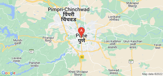 map of Pune, India