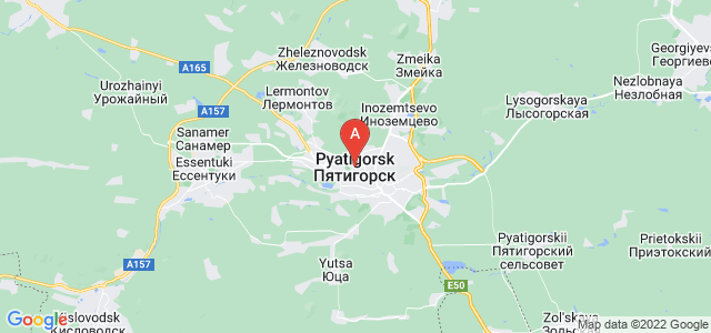 map of Pyatigorsk, Russia