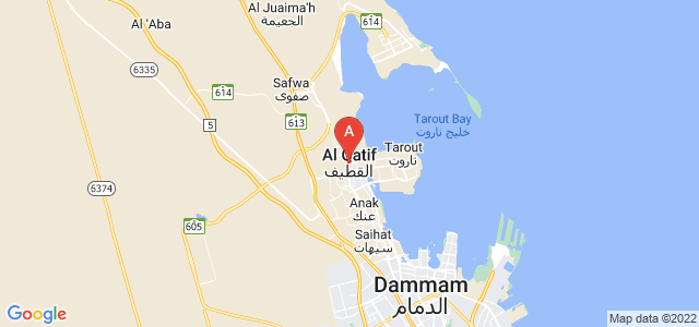 map of Qatif, Saudi Arabia