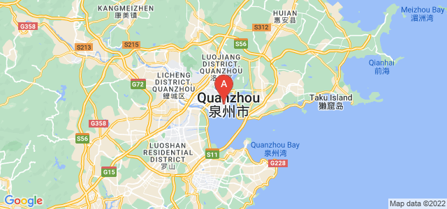 map of Quanzhou, China