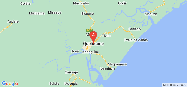map of Quelimane, Mozambique