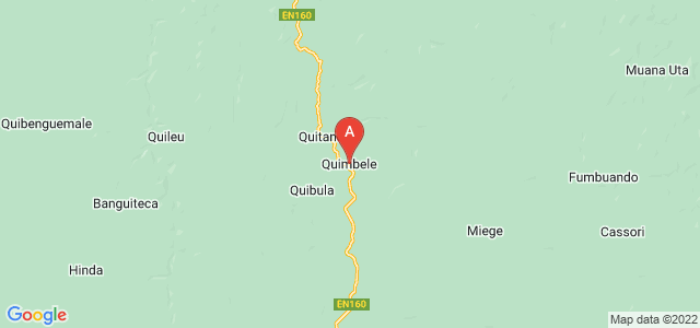map of Quimbele, Angola