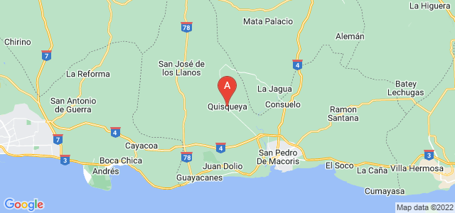 map of Quisqueya, Dominican Republic
