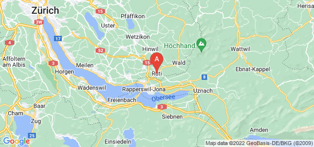 map of Rüti, Switzerland