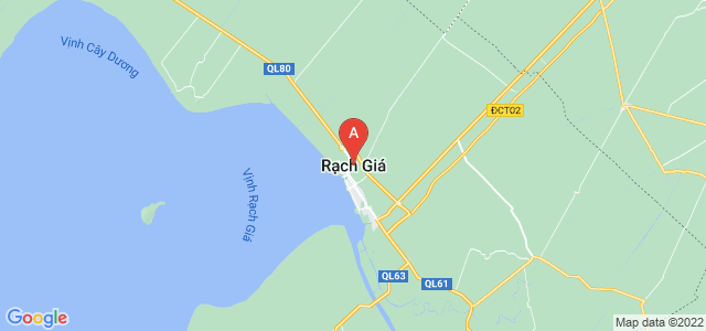 map of Rạch Giá, Vietnam