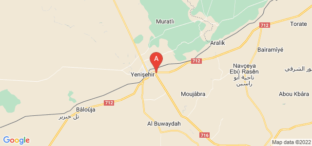 map of Ra's al-'Ayn, Syria