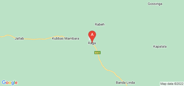 map of Raga, South Sudan