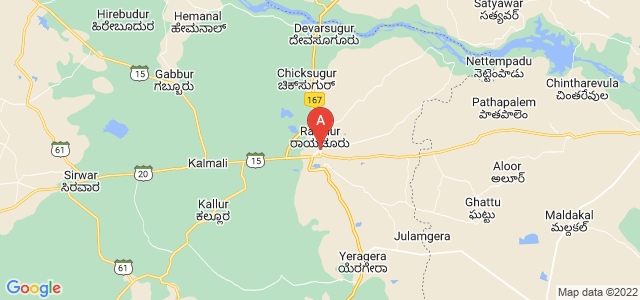 map of Raichur, India