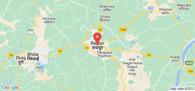 map of Raipur, India