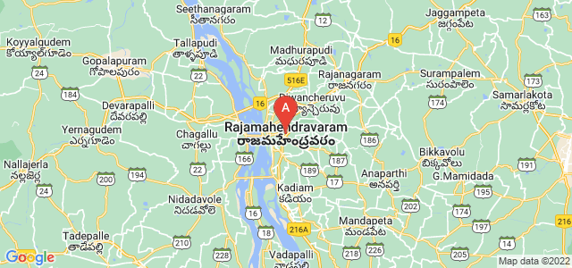 map of Rajahmundry, India