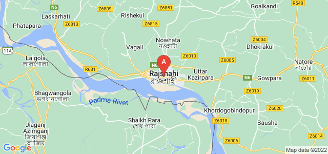 map of Rajshahi, Bangladesh