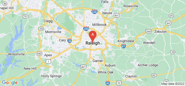 map of Raleigh, United States of America