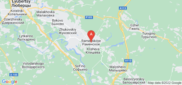 map of Ramenskoye, Russia