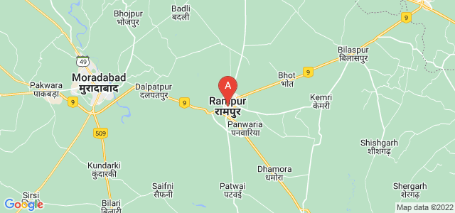 map of Rampur, India
