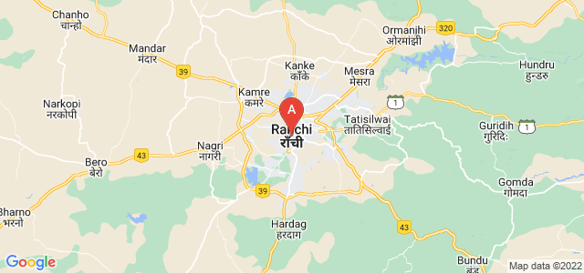 map of Ranchi, India