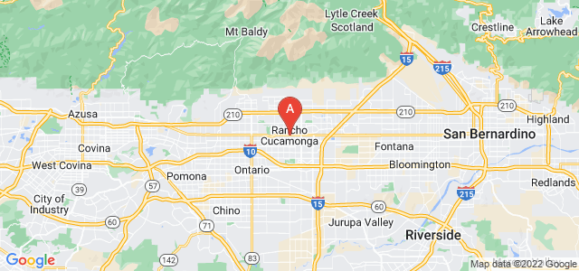 map of Rancho Cucamonga, United States of America