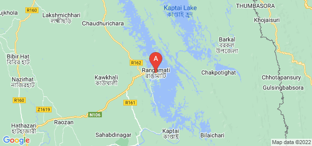map of Rangamati, Bangladesh