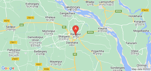map of Rangpur, Bangladesh