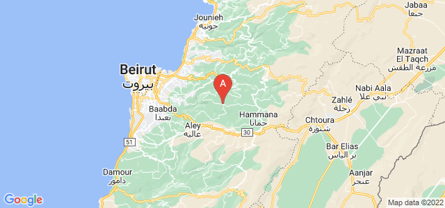 map of Ras el Matn, Lebanon