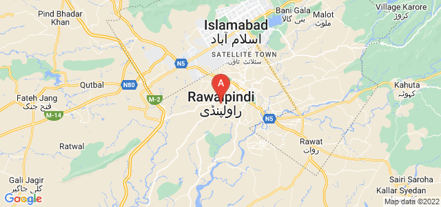 map of Rawalpindi, Pakistan