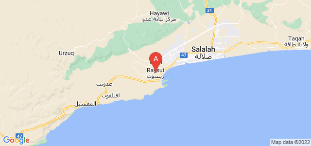 map of Raysut, Oman