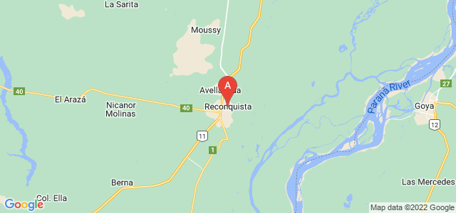 map of Reconquista, Argentina