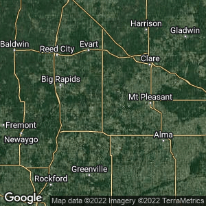 Static Map of Remus, Michigan