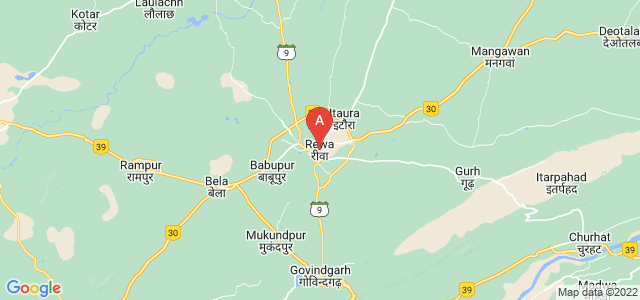 map of Rewa, India