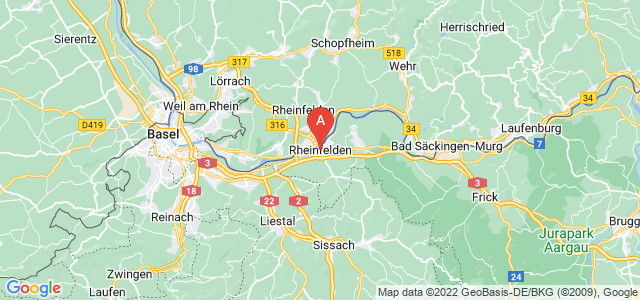 map of Rheinfelden, Switzerland