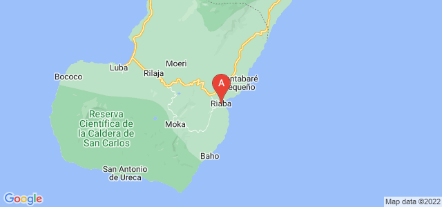 map of Riaba, Equatorial Guinea