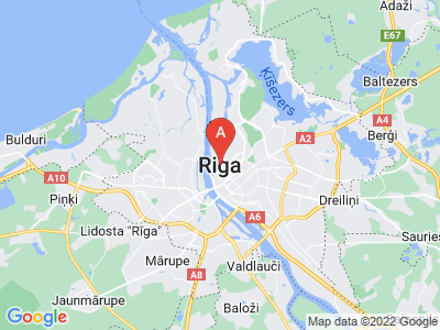 map of Riga, Latvia
