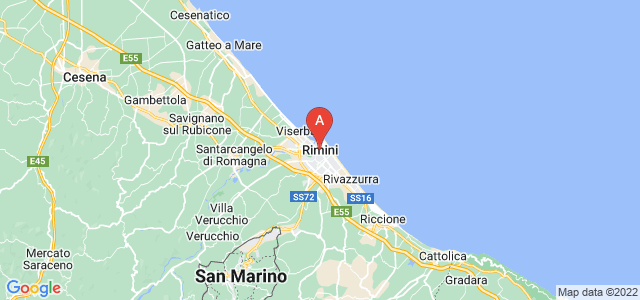 map of Rimini, Italy