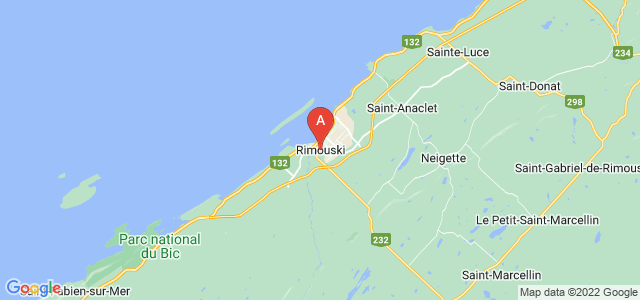 map of Rimouski, Canada