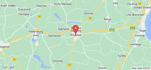 map of Ringsted, Denmark
