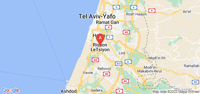 map of Rishon LeZion, Israel