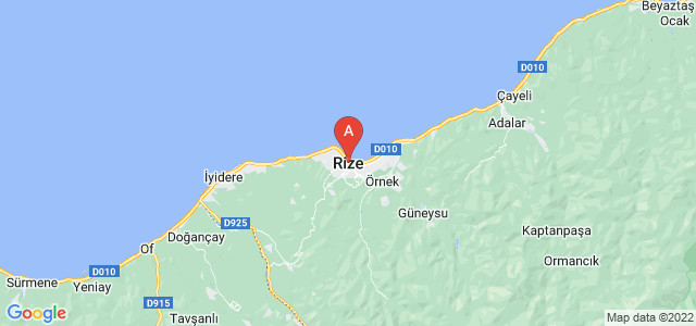 map of Rize, Turkey